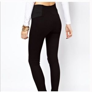 Zara Basic Wide Waist Leggings